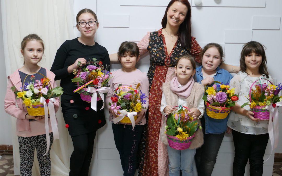 Atelier de creație florală pentru copii – Ediția de Martie